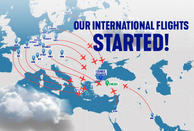 Our International Flights Updated!