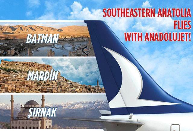 Southeastern Anatolia flies with AnadoluJet