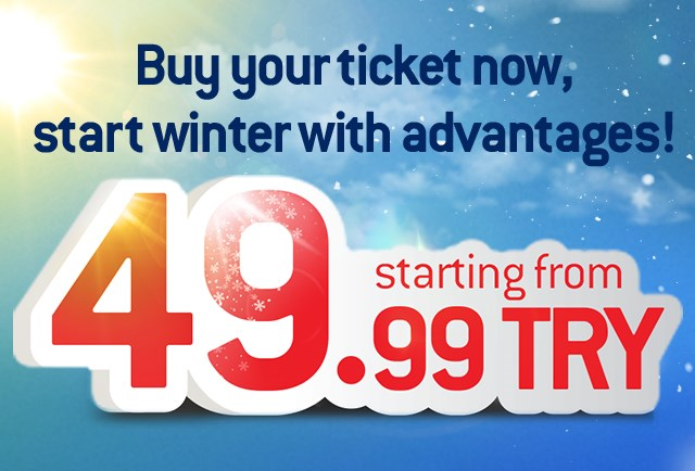 Buy your ticket now, start winter with advantages!