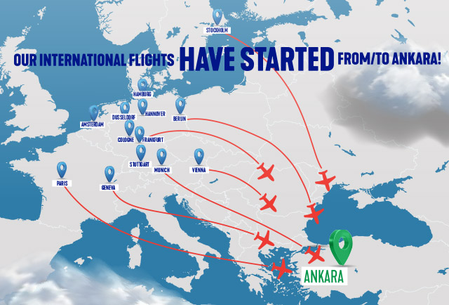 Our International Flights Have Started From/to Ankara