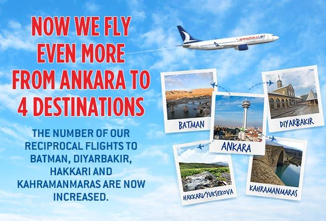 Now we fly even more from Ankara to 4 destinations !
