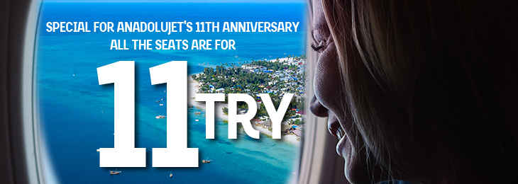 Special seat selection for AnadoluJet 11th Year 11 TRY!