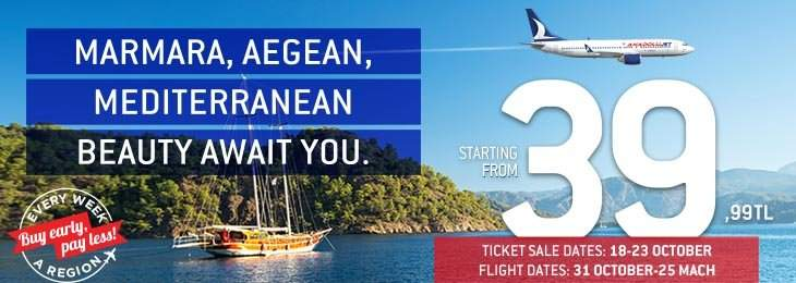 Marmara-Aegean-Mediterranean is waiting for you with all its Beauties!