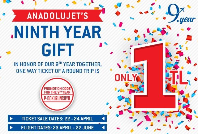 9th Year Gift from AnadoluJet