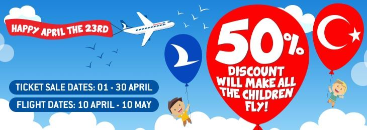 50% Discount Will Made All Children Fly!