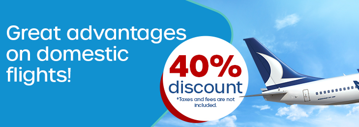40% Off Sale For Domestic Flights