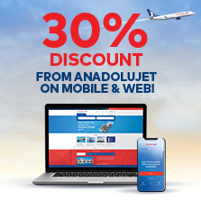 30% Discount From AnadoluJet On Mobile & Web