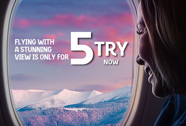 Flying with a stunning view is only for 5 TRY now !