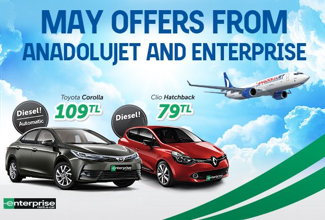 May Offer from AnadoluJet and Enterprise