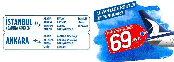 Advantage Routes of February From AnadoluJet